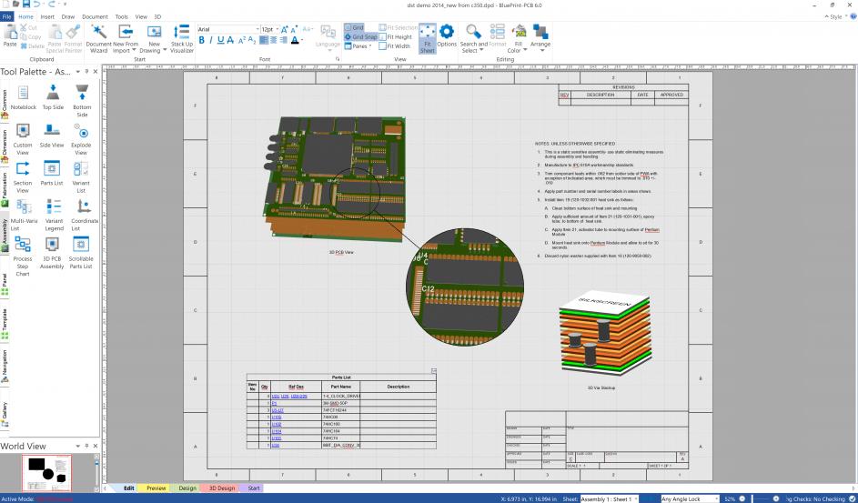 Blueprint PCB